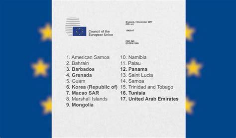 liste des bureaux d 騁udes en tunisie paradis fiscaux la liste de l ue d 233 j 224 expurg 233 e