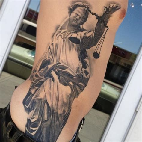 fantasy side blind libra justice tattoo by carlos torres