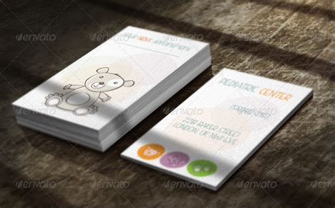 pediatric business card templates pediatric business card by webopium graphicriver