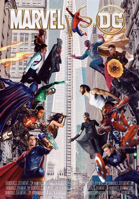film marvel vs dc marvel vs dc comics movie poster by brunoborg3s on deviantart