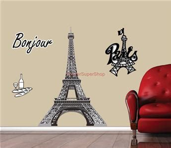 eiffel tower home decor choose size paris eiffel tower decal removable wall