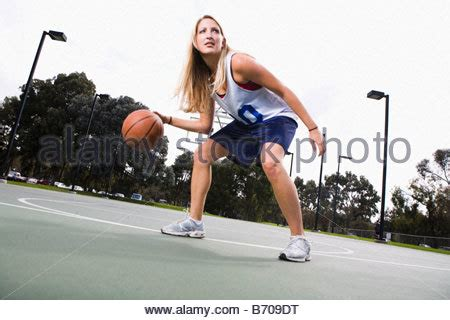 basketball spielen of a basketball stock photo