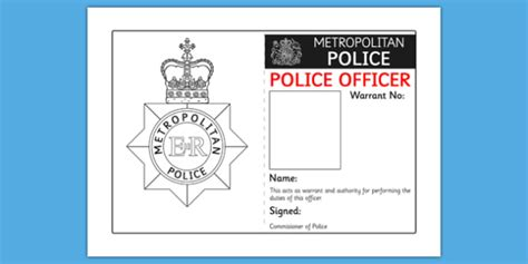 detective identification card template for identity badge play template id badge