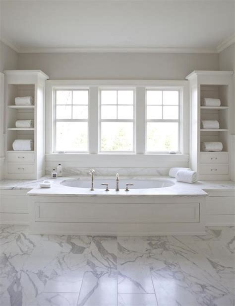 Bathtub Built In by Tapestry Beige Transitional Bathroom Benjamin