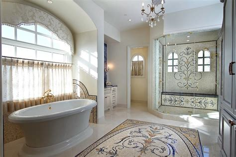 mosaic tile designs bathroom 1000 images about tile rug patterns on cement