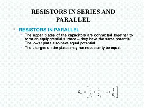resistors in series and parallel equations poisson s equation 2nd 4