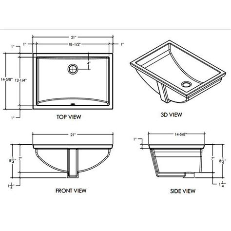 bathroom sinks vitreous china rectangular bathroom sink