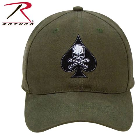 Low Profile Cap black ink spade low profile insignia cap