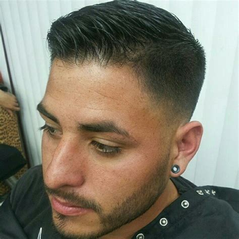 hair cut on the side hair style short fade side part slicked barbershops pinterest