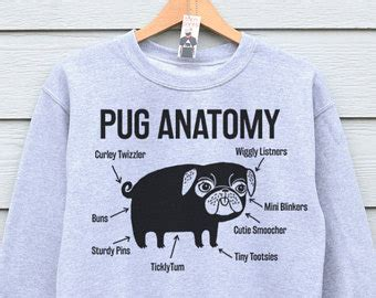 womens pug clothing pug print etsy