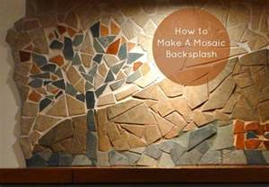 how to do a backsplash how to make a mosaic backsplash