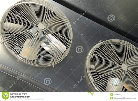 fan and air conditioner industrial air conditioner fan stock image image 52029769