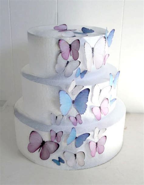 diy edible decorations edible butterflies wedding cake topper light pink and