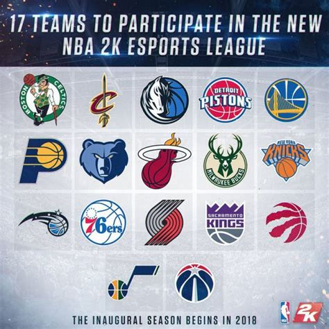 esports the complete guide 17 18 a guide for gamers teams organisations and other entities in or looking to get into the space books nba 2k18 eleague list of 17 nba teams participating in