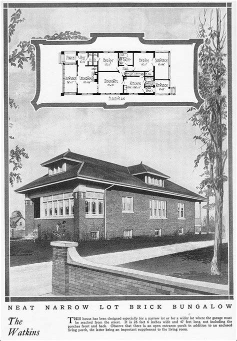 chicago bungalow house plans 1925 chicago style bungalow vintage house plan for a