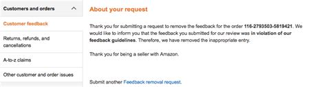 remove negative feedback amazon fba removing negative feedback on amazon