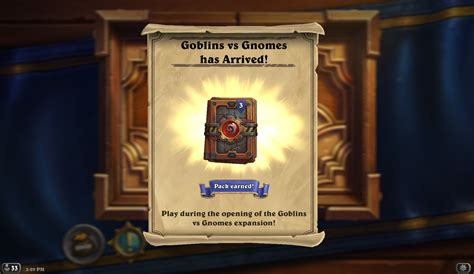 Can You Gift Card Packs In Hearthstone - hearthpwn goblins vs gnomes has released in north america curse