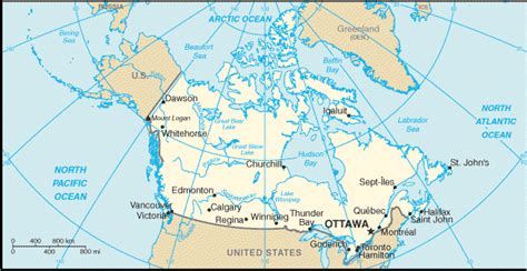 canadian lakes and rivers map canada