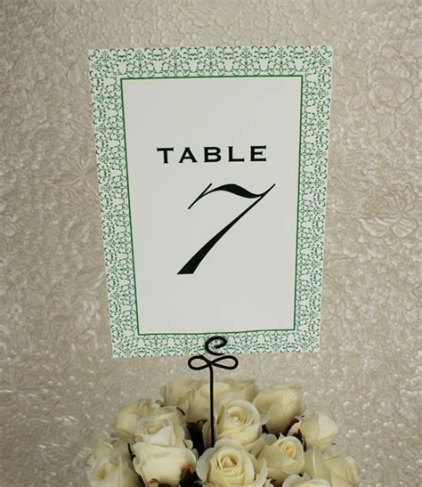 wedding table numbers template vintage reception table number template print