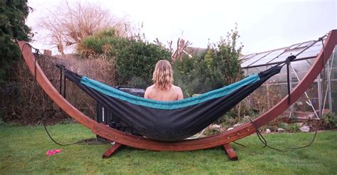 this tub hammock just might be the most relaxing thing