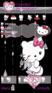 hello kitty mobile themes animated hello kitty mobile themes for nokia 5233