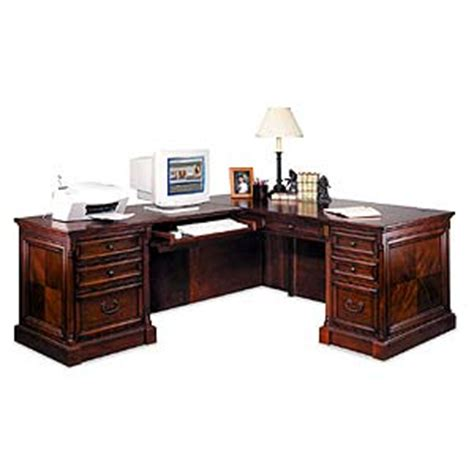 Executive Desk L Shape Kathy Ireland Home By Martin Mount View Traditional L Shaped Executive Desk Powell S Furniture