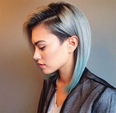 edgy haircuts and color edgy cut with light blue color colorful hairstyles