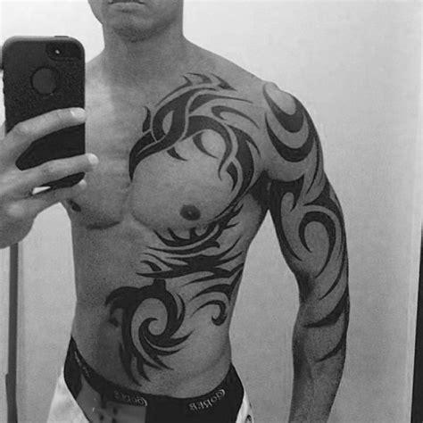 tribal chest tattoo designs for men 40 tribal designs for mythology ink ideas