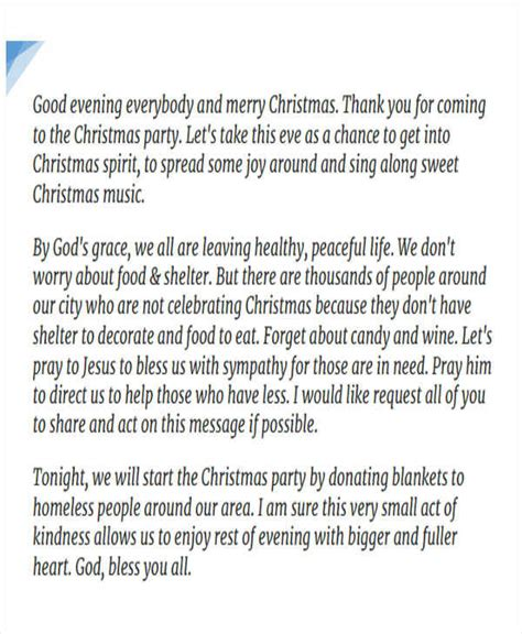 christmas employee speech 44 speech sles sle templates