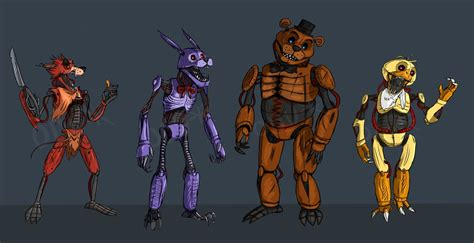Freddys At Five Nights Anime Newhairstylesformen2014com | bunny bonnie freddys nights at five