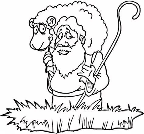 lost sheep coloring page supercoloring com