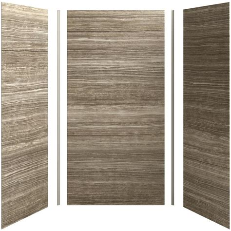 Lowes Shower Wall Panels shop kohler choreograph shower wall surround side and back panels common 36 in actual 96 in