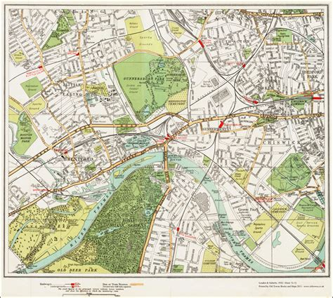 Modern Adobe Houses an old map of the brentford kew chiswick area london in