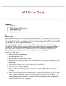Sle Outline Format Apa Style by Best Photos Of Apa Format Exle Sources Apa Format For Website Sources Apa Reference Page