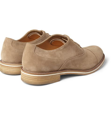 suede oxford shoes tod s suede oxford shoes in brown for lyst