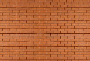 papier peint trompe l oeil mur de brique orange