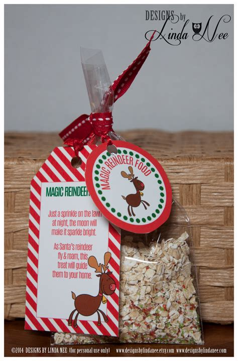 printable reindeer chow gift tag magic reindeer food gift tag card rectangle and gift tag 2