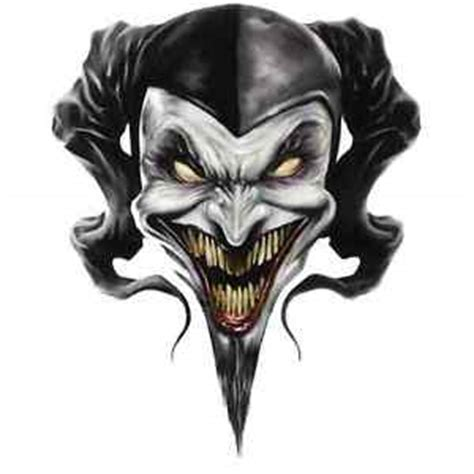euro 6 stage multi layer step by step airbrush demon clown