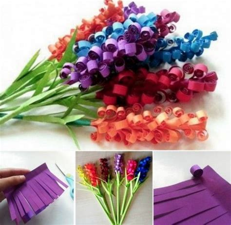 Make Construction Paper Flowers - paper hyacinth tutorial beautiful