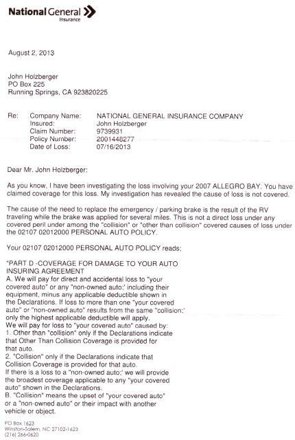 Insurance Denial Letter   Free Printable Documents