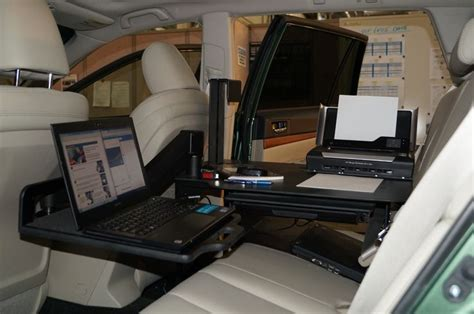 mobile office car desk workstations ideas greenvirals style