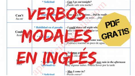 ingles imagenes pdf resumen de los verbos modales en ingl 233 s con pdf gratis