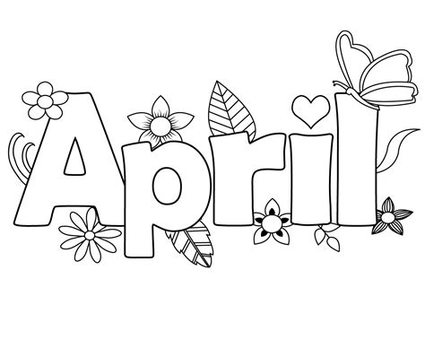 coloring printables printable april coloring pages free