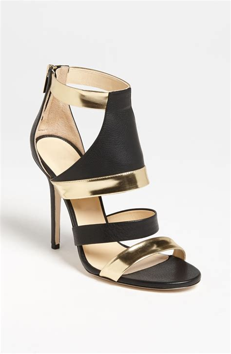 gold and black high heels black and gold leather vintage high heel sandals