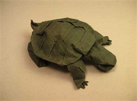 How To Fold Origami Turtle - western pond turtle origami by kyokamih on deviantart