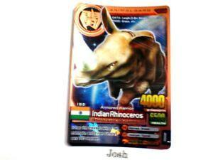 animal kaiser evolution evo version ver  bronze card  indian rhinoceros ebay
