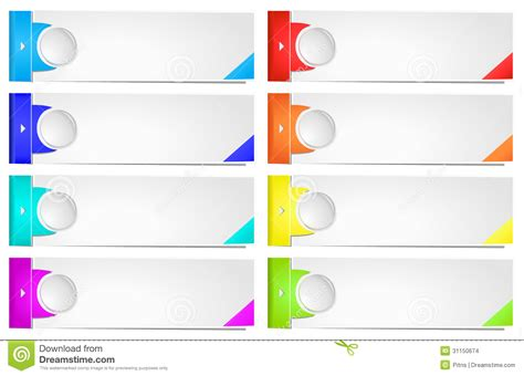 Colorful Options Banner Template Stock Images Image 31150674 Z Banner Template