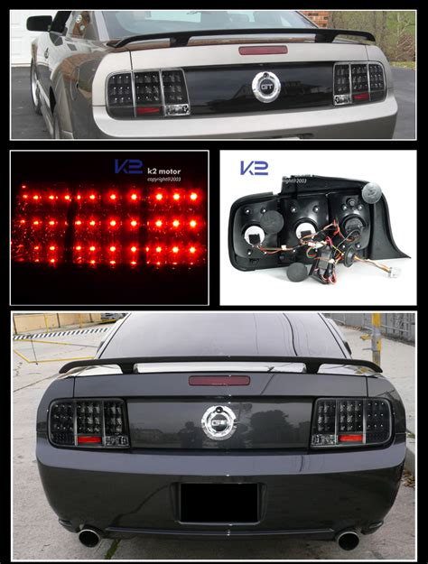03 mustang sequential tail lights 05 09 mustang black halo projector headlights sequential