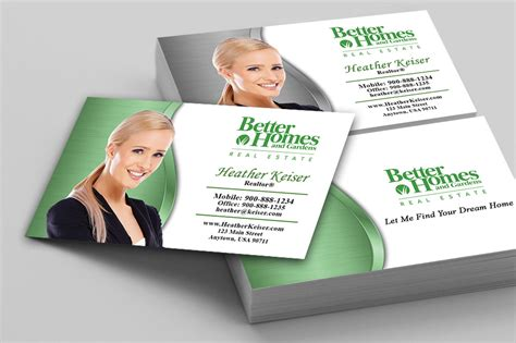 better homes and gardens real estate business cards