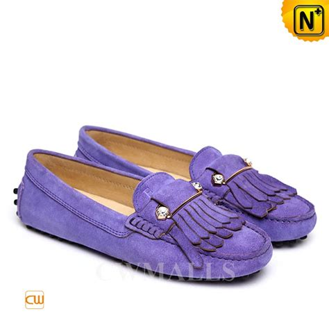 driving loafers womens cwmalls 174 womens leather fringe driving loafers cw306029
